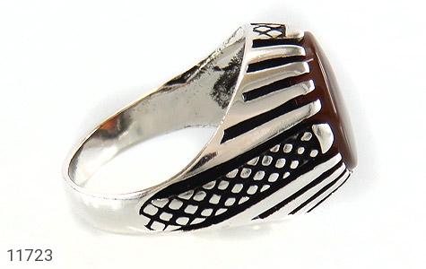 انگشتر عقیق جذاب و خاص مردانه - عکس 3