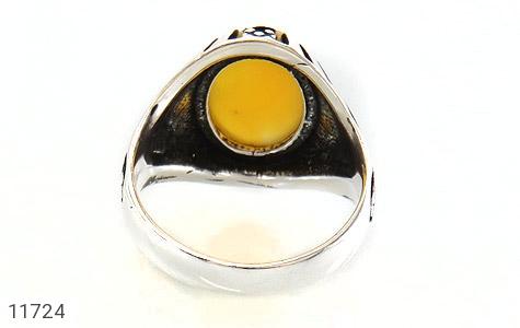 انگشتر عقیق زرد خوش رنگ مردانه - تصویر 4