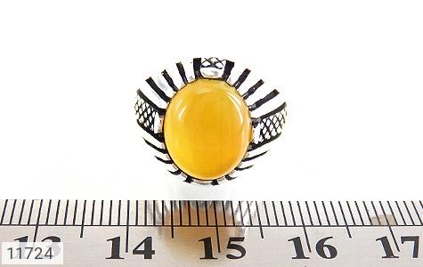 انگشتر عقیق زرد خوش رنگ مردانه - تصویر 6