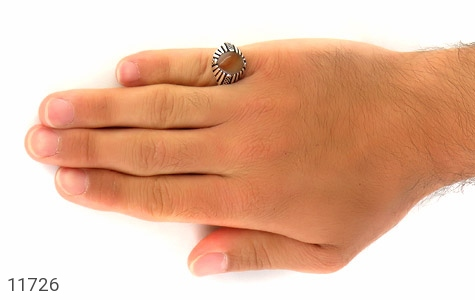 انگشتر عقیق زیبا و خوش رنگ مردانه - عکس 7