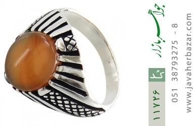 انگشتر عقیق زیبا و خوش رنگ مردانه - کد 11726
