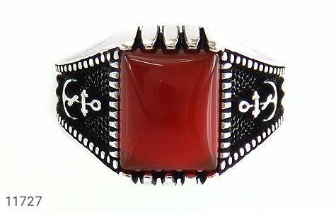 انگشتر عقیق قرمز طرح ناخدا مردانه - تصویر 2