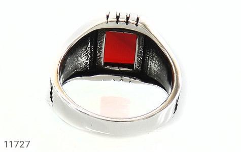 انگشتر عقیق قرمز طرح ناخدا مردانه - تصویر 4