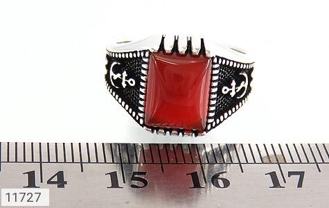 انگشتر عقیق قرمز طرح ناخدا مردانه - تصویر 6