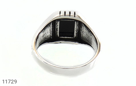 انگشتر عقیق سیاه طرح ناخدا مردانه - تصویر 4