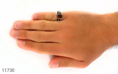 انگشتر چشم ببر چهارگوش مردانه - عکس 7