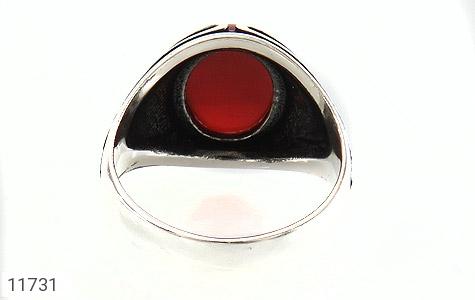 انگشتر عقیق قرمز طرح قلب مردانه - تصویر 4