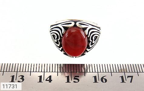 انگشتر عقیق قرمز طرح قلب مردانه - تصویر 6