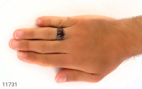 انگشتر عقیق قرمز طرح قلب مردانه - عکس 7