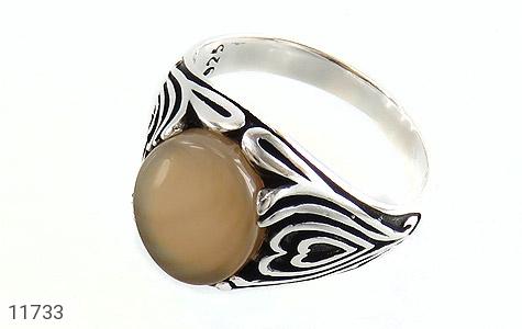 انگشتر عقیق طرح قلب مردانه - عکس 1
