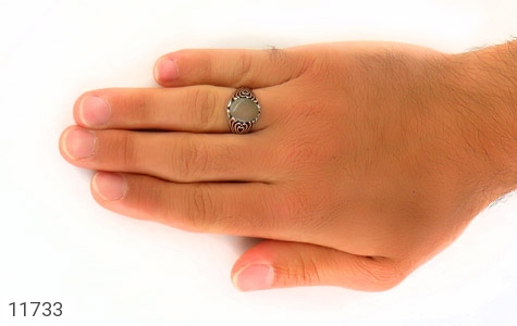 انگشتر عقیق طرح قلب مردانه - عکس 7