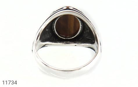 انگشتر چشم ببر طرح قلب مردانه - تصویر 4