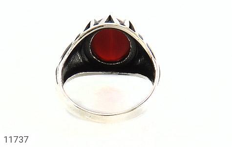 انگشتر عقیق قرمز دورچنگ مردانه - تصویر 4