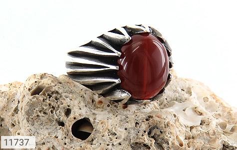 انگشتر عقیق قرمز دورچنگ مردانه - عکس 5