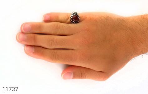 انگشتر عقیق قرمز دورچنگ مردانه - عکس 7