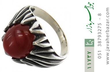 انگشتر عقیق قرمز دورچنگ مردانه - کد 11737