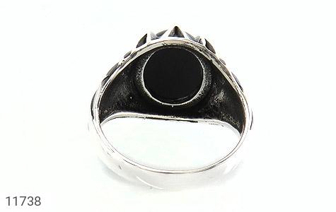 انگشتر عقیق سیاه دورچنگ مردانه - تصویر 4