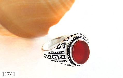 انگشتر عقیق قرمز طرح ورساچه مردانه - عکس 5