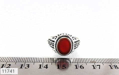 انگشتر عقیق قرمز طرح ورساچه مردانه - تصویر 6