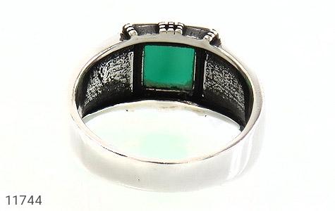 انگشتر عقیق سبز طرح ورساچه مردانه - تصویر 4