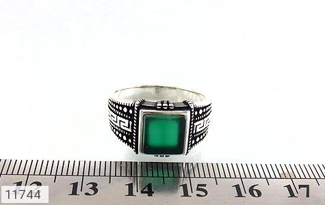 انگشتر عقیق سبز طرح ورساچه مردانه - تصویر 6