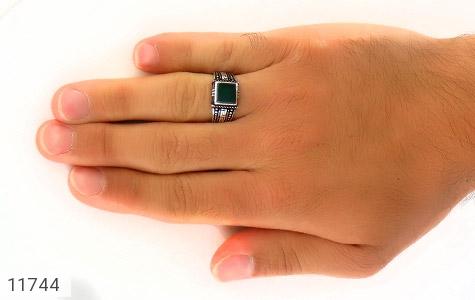 انگشتر عقیق سبز طرح ورساچه مردانه - عکس 7