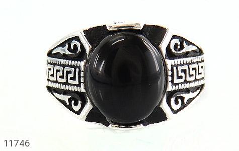 انگشتر عقیق سیاه طرح ورساچه مردانه - تصویر 2