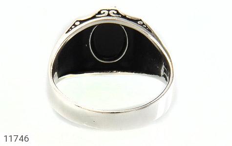 انگشتر عقیق سیاه طرح ورساچه مردانه - تصویر 4
