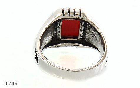 انگشتر عقیق قرمز سیاه قـلم مردانه - تصویر 4