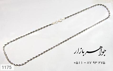 زنجیر نقره ایتالیایی سیاه قلم - تصویر 2