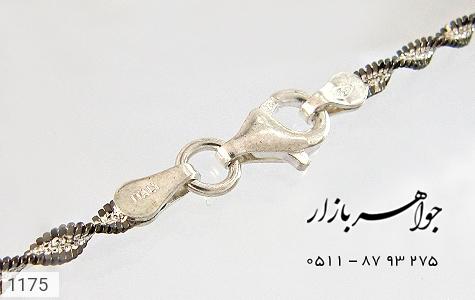 زنجیر نقره ایتالیایی سیاه قلم - تصویر 4
