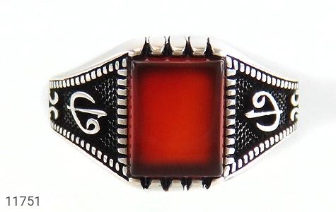 انگشتر عقیق قرمز کلاسیـک مردانه - تصویر 2