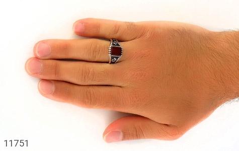 انگشتر عقیق قرمز کلاسیـک مردانه - عکس 7
