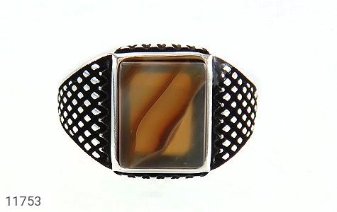 انگشتر عقیق طرح جذاب مردانه - تصویر 2
