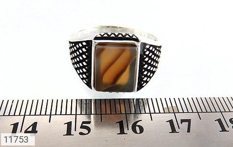 انگشتر عقیق طرح جذاب مردانه - تصویر 6