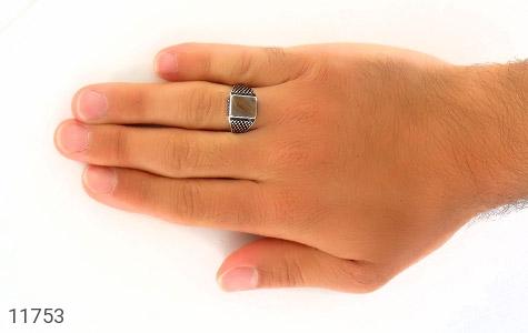 انگشتر عقیق طرح جذاب مردانه - عکس 7