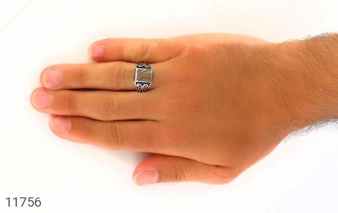 انگشتر عقیق ابر و بادی مردانه - عکس 7