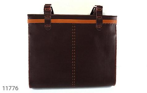 کیف چرم طبیعی دست دور سایز بزرگ زنانه - تصویر 2