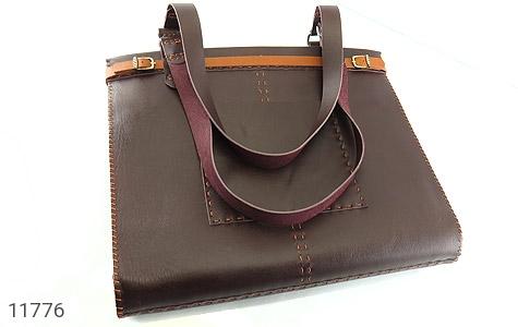 کیف چرم طبیعی دست دور سایز بزرگ زنانه - عکس 3