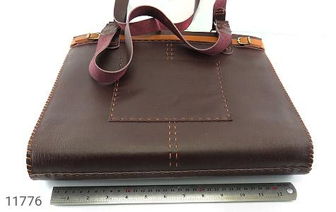 کیف چرم طبیعی دست دور سایز بزرگ زنانه - تصویر 8
