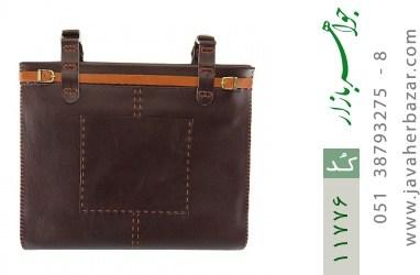 کیف چرم طبیعی دست دور سایز بزرگ زنانه - کد 11776