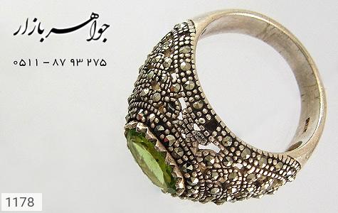 انگشتر زبرجد و مارکازیت - تصویر 2