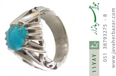 انگشتر فیروزه نیشابوری رکاب دست ساز - کد 11787