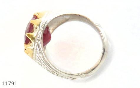انگشتر یاقوت رکاب دست ساز - عکس 5