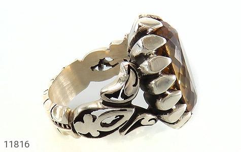 انگشتر سیترین رکاب دست ساز - عکس 3