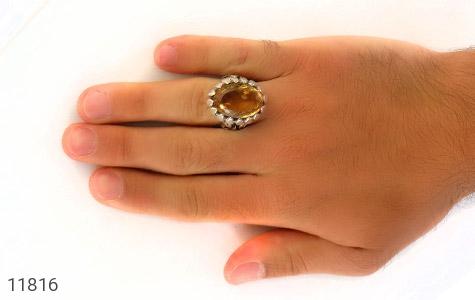 انگشتر سیترین رکاب دست ساز - عکس 7