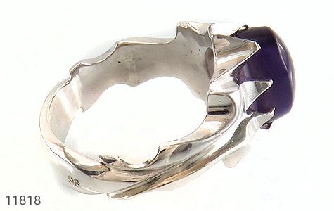 انگشتر آمتیست رکاب دست ساز - عکس 3
