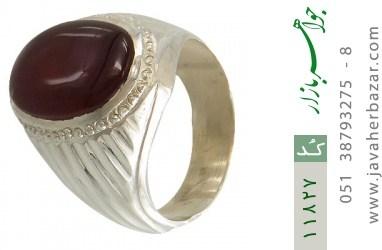 انگشتر عقیق یمن هنر دست استاد یکتا - کد 11827