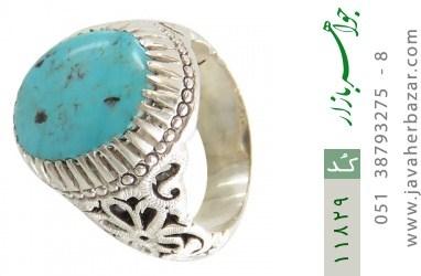 انگشتر فیروزه نیشابوری هنر دست استاد عباسیان - کد 11829