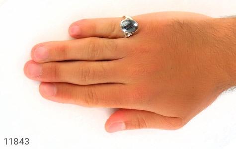 انگشتر حدید حکاکی هفت جلاله رکاب دست ساز - تصویر 8
